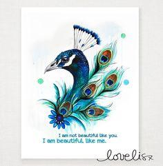 Peacock Drawing, Peacock Wall Art, Peacock Tattoo, Peacock Painting, Fabric Painting, Watercolor Paintings, Original Paintings, The Peacock, Peacock Sketch
