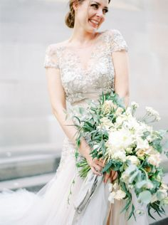 Gray wedding dresses that'll make you forget about white: http://www.stylemepretty.com/collection/2898/
