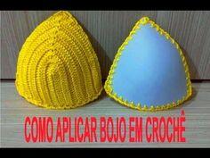 "Como fazer o cropped crochet Top ""Carolina""com bababdos How to do, ruff, Häkeltop, Halter, Oberteil Crochet Bikini Bottoms, Crochet Bra, Quick Crochet, Crochet Crop Top, Basic Crochet Stitches, Crochet Woman, Crochet Crafts, Crochet Clothes, Crochet Patterns"