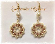 Pattern bijoux: Orecchini Cometa http://zyrconiabijoux.blogspot.ch/2013/01/tutorial-perline-orecchini-cometa.html