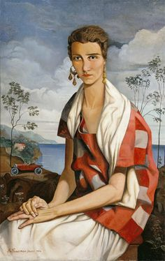 'Portrait of Peggy Guggenheim' (1926) by French painter Alfred Courmes (1896-1993). via Diptyque's Crossing