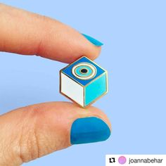 #Repost @joannabehar has come out with a new pin! More info below. ・・・ From the artist: 💙I am proud to introduce my very first pin: the #KemGözPin !💙 Kem Göz is Turkish for #evileye 👁 and this little talisman is supposed to protect you from it. I have always had one on me ever since I was a little kid so I figured it was only logical I designed one!  This is my modern version of it. I hope you guys like it as much as I do and I will be taking 🍭preorders starting next week!🍭 #pingame…