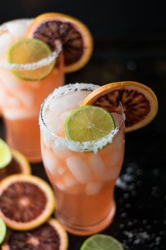 blood orange gose margarita is a colorful and festive cocktail using both beer & tequila for a refreshing beverage perfect to celebrate cinco de mayo - drink Sweet Cocktails, Festive Cocktails, Summer Cocktails, Cocktail Drinks, Cocktail Recipes, Drink Recipes, Tequila, Passion Fruit Juice, Girl Cooking