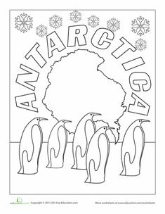 Worksheets: Antarctica Coloring Page