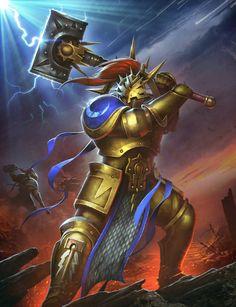 Stormcast Retributor  #ageofsigmar #warhammer #art #fantasy #aos #gamesworkshop #Stormcast #Chaos