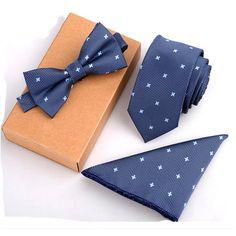 Felder & Co. - Slim Neck Ties & Handkerchief & Bow Tie Set