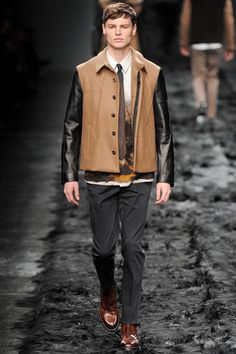 Fendi Fall 2014 Menswear Collection Slideshow on Style.com