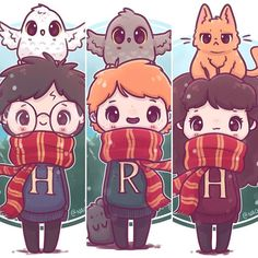 20 Adorable Enchanting Illustrations by Harry Potter- # Adorable . - 20 Adorable Enchanting Illustrations by Harry Potter- # Adorable # charming # - Harry Potter Tumblr, Harry Potter Fan Art, Harry Potter World, Harry Potter Anime, Harry Potter Kawaii, Harry Potter Kunst, Images Harry Potter, Estilo Harry Potter, Cute Harry Potter