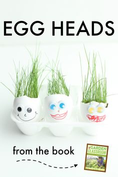 Egg Heads:  A wonderfully simple gardening activity for kids!