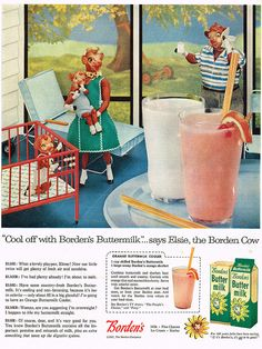Vintage Ad #1,525: One Fine Summer Day at Elsie the Cow's by jbcurio, via Flickr