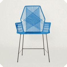 Geflochtener Stuhl Outdoor Chairs, Outdoor Furniture, Outdoor Decor, Dark Blue, Fisher, Interior, Island, Nantucket, Design
