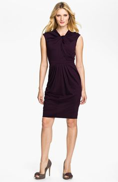 Carmen Marc Valvo Knot Front Knit Dress available at Nordstrom