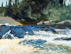 Spring Rapids, 1912 by J. MacDonald on Curiator, the world's biggest collaborative art collection. Group Of Seven Artists, Group Of Seven Paintings, Canadian Painters, Canadian Artists, Landscape Art, Landscape Paintings, Landscapes, Impressionist Landscape, Impressionism