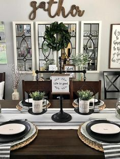 If you are looking for Farmhouse Dining Room Design, You come to the right place. Below are the Farmhouse Dining Room Design. This post about Farmhouse Dining. Dining Room Wall Decor, Dining Room Design, Dinning Room Ideas, Dining Room Mirrors, Wall Decor With Mirrors, Frames Decor, Decorative Mirrors, Buffet Table Ideas Decor Dining Rooms, Wall Decor For Kitchen