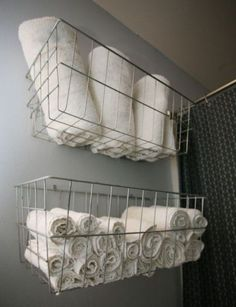 New towel storage for small bathroom apartment therapy 58 ideas