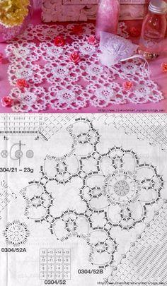 Салфетка из мотивов. Crochet Tablecloth Pattern, Crochet Bedspread, Crochet Potholders, Crochet Doily Patterns, Crochet Diagram, Crochet Art, Crochet Squares, Crochet Home, Filet Crochet