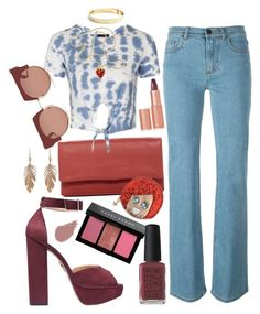"""""""Aerial View"""" by chelsofly ❤ liked on Polyvore featuring Liebeskind, Fendi, Topshop, Bobbi Brown Cosmetics, Charlotte Olympia, Marni, Annette Ferdinandsen, Eddie Borgo, Kenneth Jay Lane and Argento Antico"""