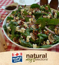 Salade chaude aux �pinards et au bacon #NaturalSelections @Maple Leaf®
