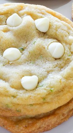 White Chocolate Coconut Key Lime Cookies - a summer take on classic chocolate chip cookies!