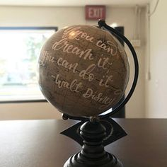 Custom Ivory White Globes- Wedding Globe Guest Book- Modern Calligraphy World Map Globe- Travel Decor- Personalized Gifts You Are My Home, You Mean The World To Me, Globe Guest Books, Gold Globe, Pretty Letters, Globe Ornament, Map Globe, Gold Paper, And So The Adventure Begins