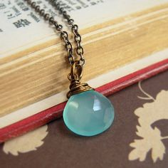 Blue Chalcedony Antique Necklace