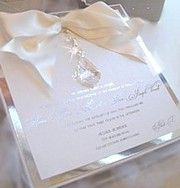 lucite and bling invite