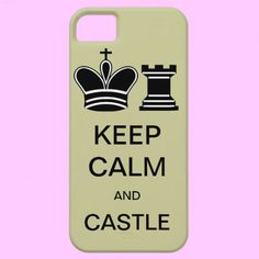 Keep Calm and Castle iPhone Case for chess players #cool #geek #nerd #chess #castle #Zazzle