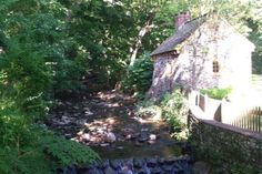 Historic RittenhouseTown, the birthplace of paper in North America, is now a preserved village on idyllic Lincoln Drive in beautiful Fairmount Park near Germantown, Philadelphia.