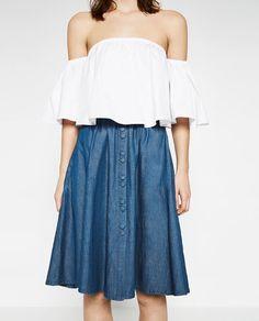 Image 4 of MID-LENGTH SKIRT from Zara