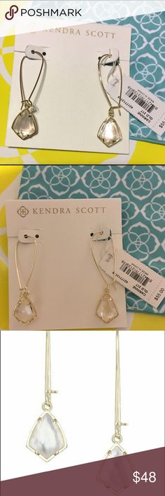 Kendra Scott Carinne Earrings KS Carinne Earrings in Gold w/ Ivory Pearl accents. These catch light beautifully! 💛 Comes with blue bag & care card! Kendra Scott Jewelry Earrings