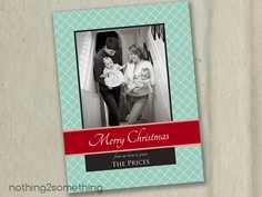 Printable Custom Family Christmas Card-From Our Home to Yours. $15.00, via Etsy.