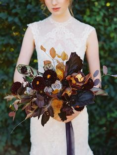 Luxurious Hidden Garden Romance with Rich Warm Hues #gardenweddingdecor #handembroideredweddingdresses #autumnweddingcolors