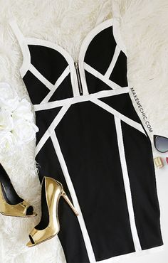 Black Transparent Panel Spaghetti Strap Bodycon Dress
