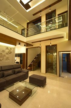 Living room modern living room by hasta architects modern 3 Storey House Design, House Roof Design, Bungalow House Design, Modern House Design, Lobby Interior, Room Interior Design, Drawing Room Interior, Drawing Rooms, Indian Home Interior
