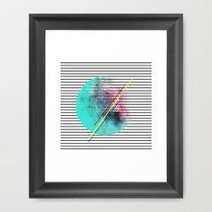 "Minimal Stripes Cotton Candy Paint Framed Art Print by Allyson Johnson 12""x12"" $41 www.society6.com"