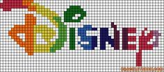 Disney logo perler bead pattern by nanii98