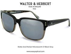 Walter and Herbert Wordsworth Black Sunglasses, Wayfarer, Black And Grey, Ray Bans, England, Style, Swag, English, British