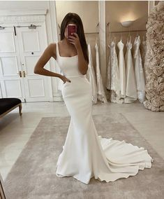 Simple Wedding Dresses Mermaid Off the Sholuder Boho Wedding Dress from Babybridal - Mermaid Wedding Dresses Long Wedding Dresses, Boho Wedding Dress, Wedding Gowns, Mermaid Wedding, Lace Wedding, Custom Wedding Dress, Wedding Bells, Formal Dresses, Princess Ball Gowns