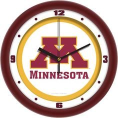 NCAA Minnesota Gophers Traditional Wall Clock