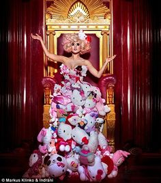 hello Kitty Gaga dress