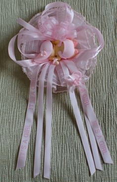 Beautiful #BabyShower #Ribbon #Corsage Pin On For By Mibellaflor