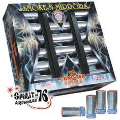 RL151 Smoke N Mirrors   Brothers Pyrotechnics - Artillery Shell  www.76fireworks.com