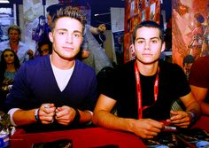 Colton Haynes and Dylan O'Brien! <3 #teenwolf