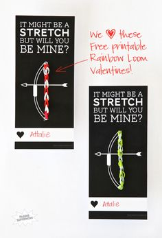 rainbow loom valentine printable / paging supermom