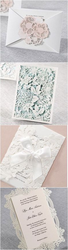 Unique laser cut wedding stationery ideas by B Wedding Invitations