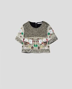 Image 8 of LIMITED EDITION BEJEWELLED TOP from Zara