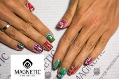 Aztec nails by Magnetic Eugene!