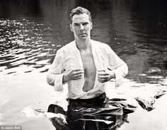 THE DAILY MAIL (September 13, 2014) ~ Benedict Cumberbatch photo by Jason Bell for Give Up Clothes For Good campaign for cancer research. [Click for article]