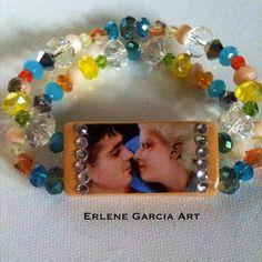 Jean Harlow and Clark Gable Bracelet by ErleneGarciaArt on Etsy