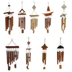 Handmade Windchimes Wind Chime Bamboo 8 Tubes Rustic Hanging Ornament Home Decor Wind Chime Parts, Wind Chimes For Sale, Wind Chimes Craft, Bamboo Art, Bamboo Crafts, Bamboo Ideas, Carillons Diy, Easy Diy, Handmade Windchimes